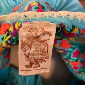 サンアントニーノ メキシコ刺繍 チュニックブラウス エスニックブラウス