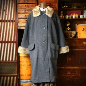 中目黒古着屋 minca | Fur Collar Wool Coat