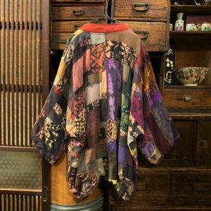 ヴィンテージ キモノスリーブ クレージーパターン ジャケット【1980's】【KUSNADAI New York】Rayon Jacket
